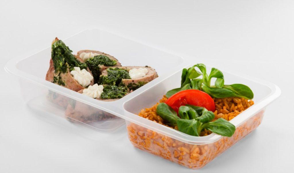 Ukázka porce krabičkové diety Fit strava.